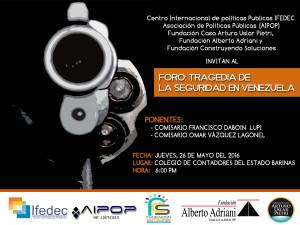 Invitación Foro Tragedia de Seguridad en Venezuela